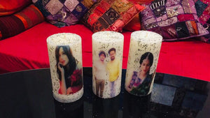 CELEBRITY DOUBLE SIDED PRINTED CANDLE