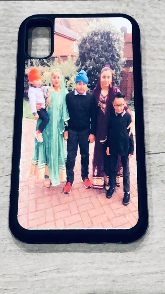 PERSONALISED IPHONE 7 BLACK PLASTIC CASE