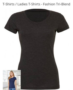 BEPIC RANGE BELLA CANVAS BLACK LADIES FIT T-SHIRT Small- 2XL BL8413