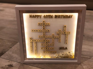 BIRTHDAY PERSONALISED SMALL SCRABBLE LETTER FRAME
