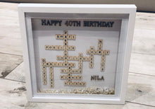 Load image into Gallery viewer, BIRTHDAY PERSONALISED SMALL SCRABBLE LETTER FRAME