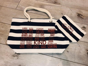 PERSONALISED WESTFORD MILL NAUTICAL BEACH BAG