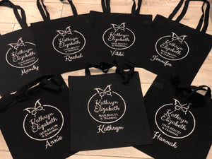 PERSONALISED LOGO TOTE BAG WITH ADDITIONAL NAME