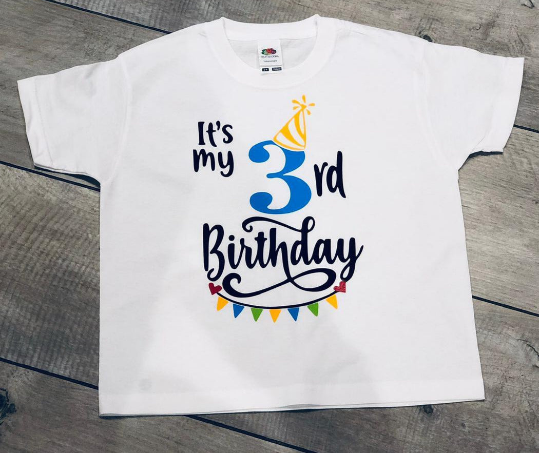 PERSONALISED BOYS AGE CHILDREN'S BIRTHDAY T-SHIRT