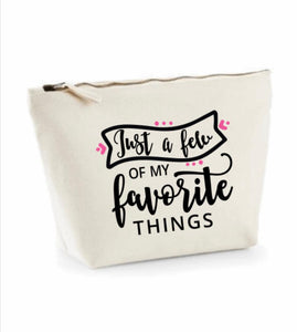 Medium- W540A Make up Case/Pencil Case With Quote or affirmation
