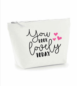 Small - W540A Make up Case/Pencil Case With Quote or affirmation
