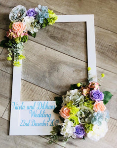 WEDDING PARTY OCCASSION BRIDAL PERSONALISED SELFIE FRAMES