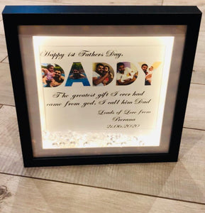 PERSONALISED DADDY FRAME  FATHER'S DAY FRAME WITH 5 PHOTOS