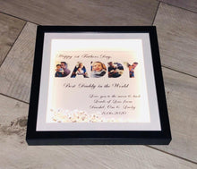 Load image into Gallery viewer, PERSONALISED DADDY FRAME  FATHER'S DAY FRAME WITH 5 PHOTOS