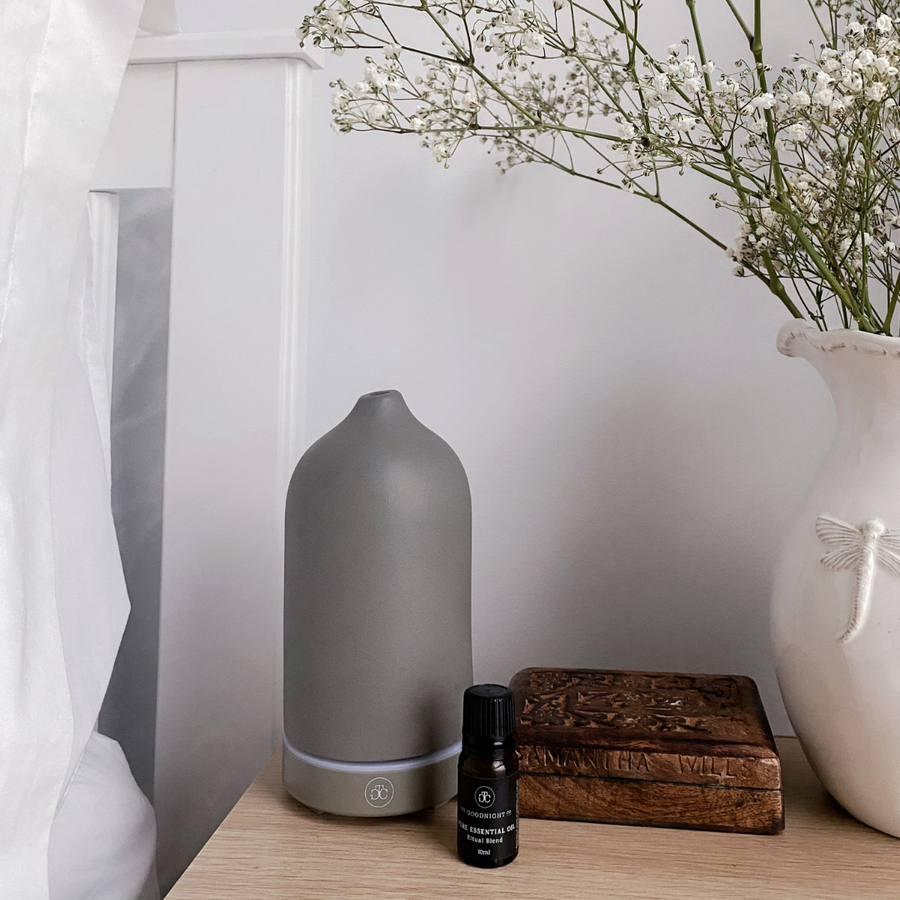 Ceramic Essential Oil Diffuser - Stone Grey