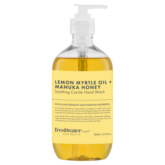 Lemon Myrtle Oil + Manuka Honey Castile Hand Wash