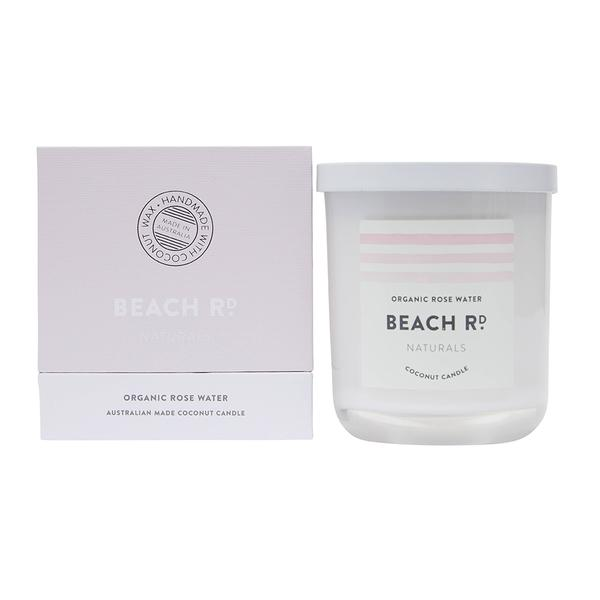 Candle - Organic Rose Water Coconut