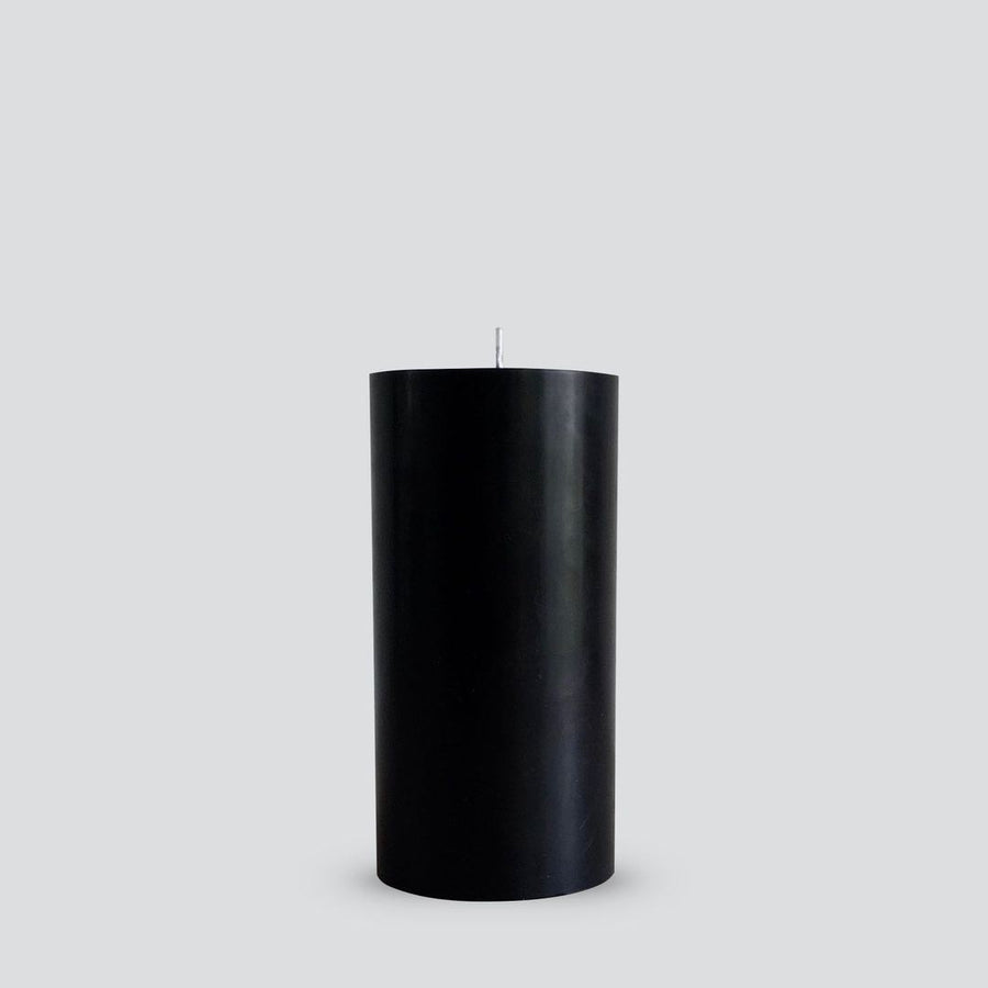 Pillar Candle - Smooth Black Medium