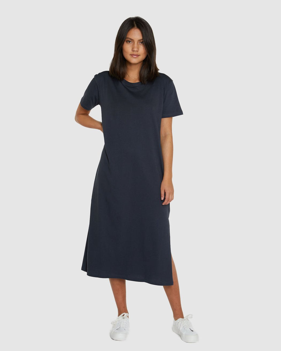 BOXY T-DRESS | GRAPHITE