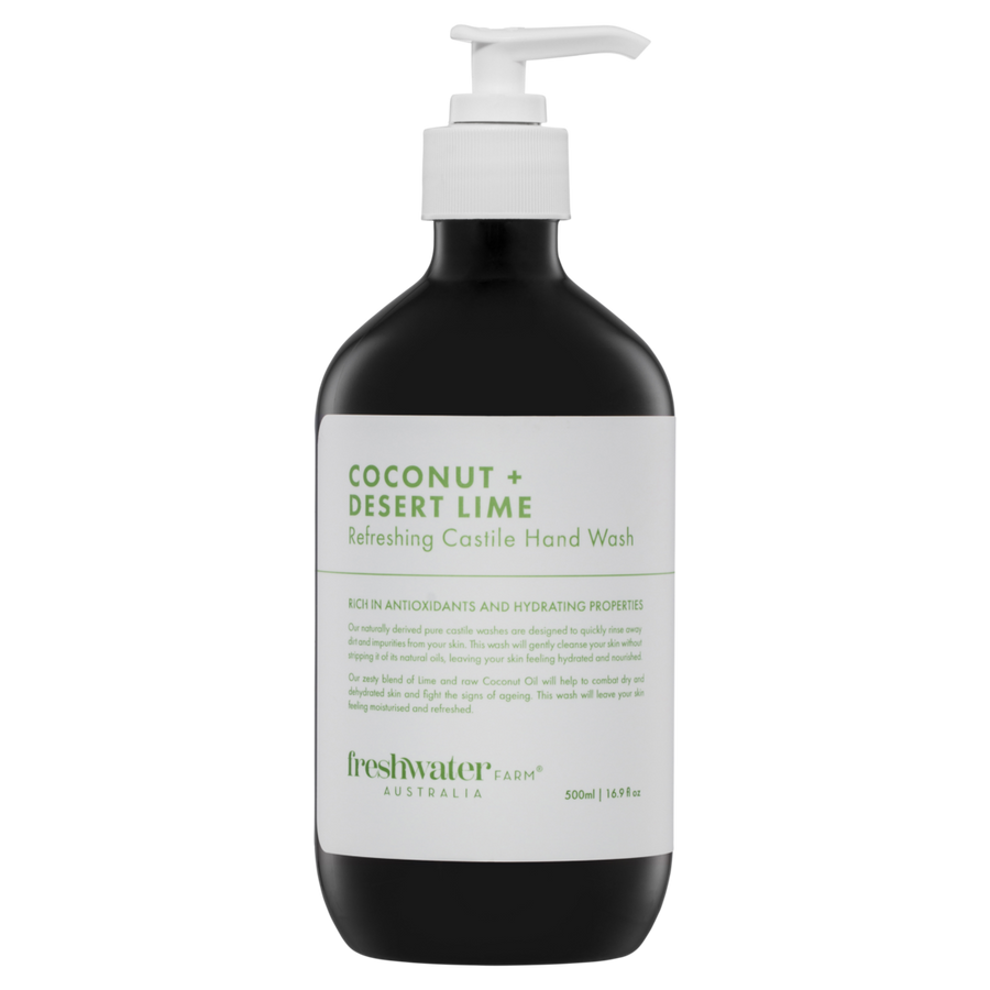 Coconut + Desert Lime Refreshing Castile Hand Wash Clear 500ml