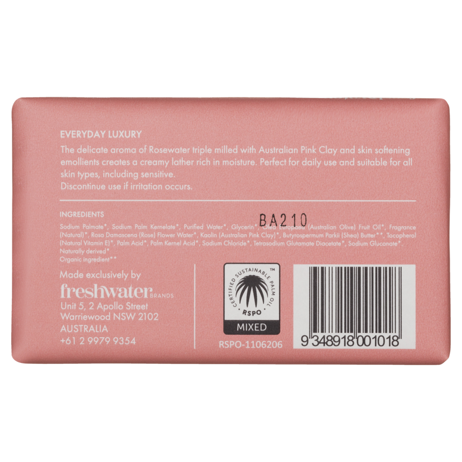 Soap - Cleansing Rosewater + Pink Clay