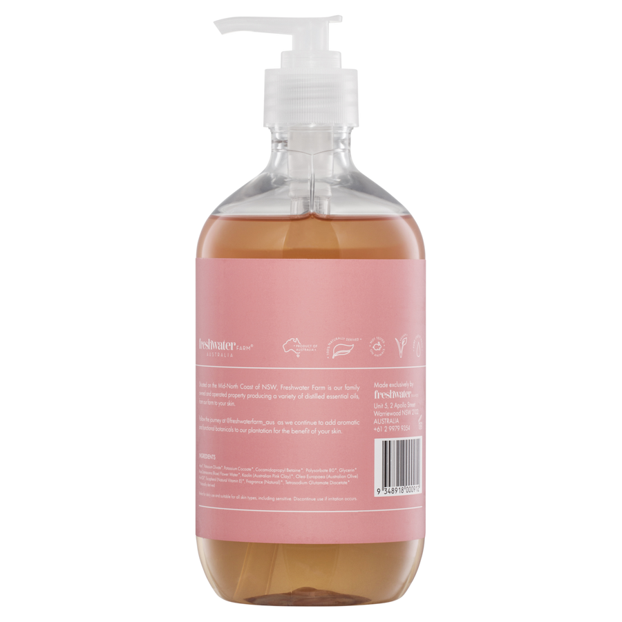 Castile Hand Wash - Cleansing Rosewater + Pink Clay
