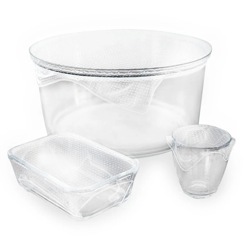 Reusable Clear Food Wrap - Set of 3