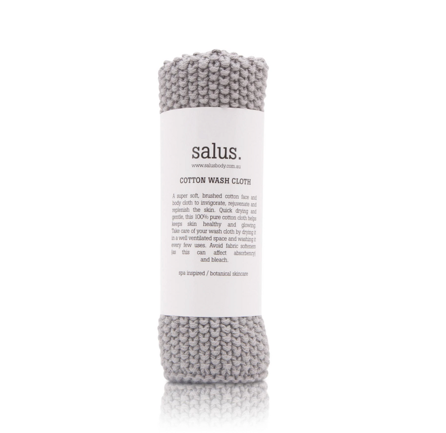 Cotton Wash Cloth - Grey