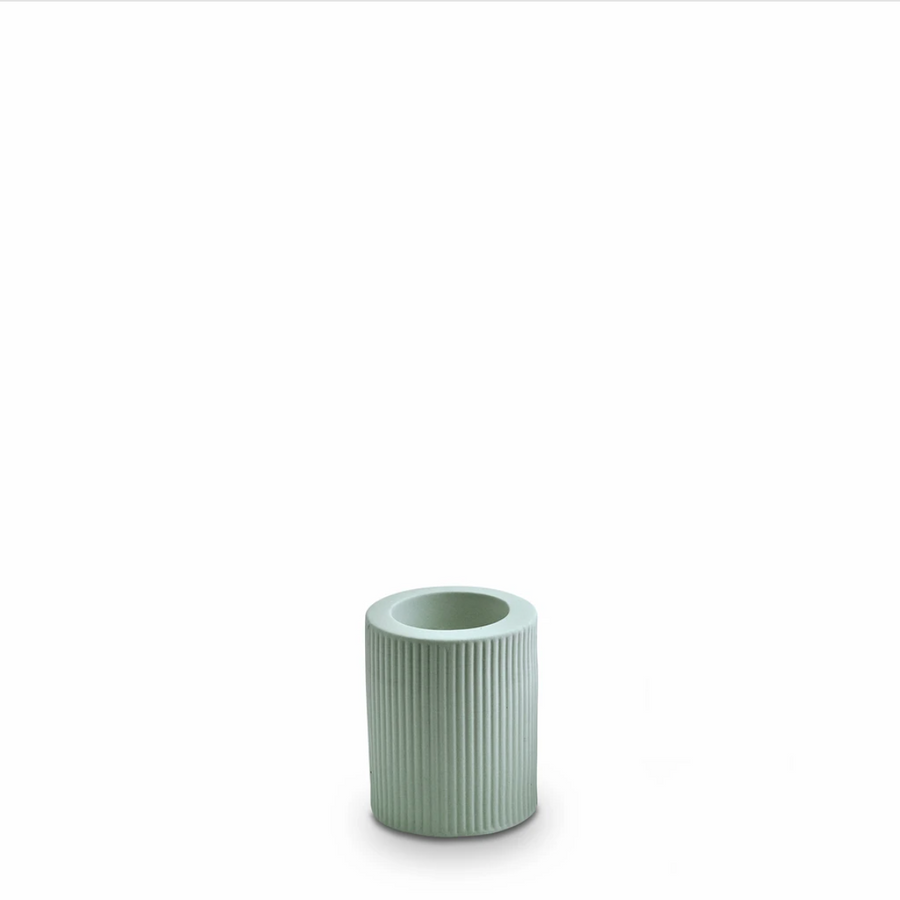 Ribbed Infinity Candle Holder - Blue