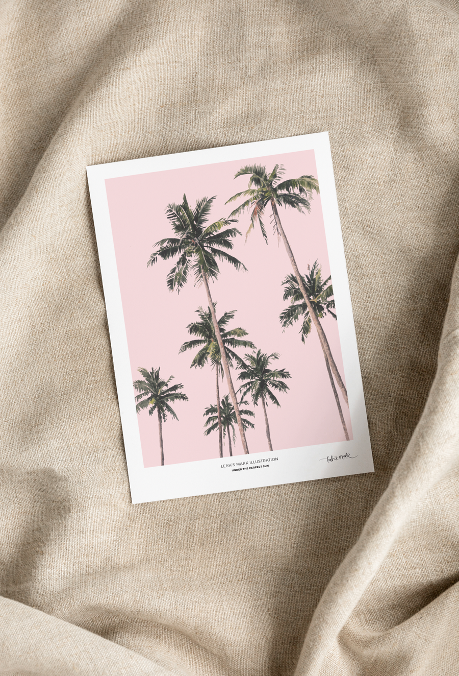 A4 Watercolour Print - Under the Sun Pink