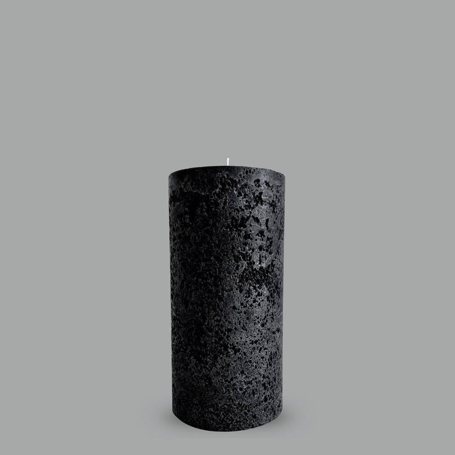 Pillar Candle - Textured Black Medium
