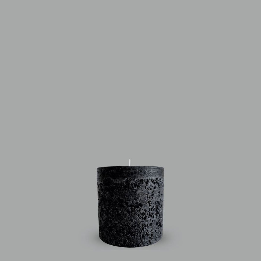 Pillar Candle - Textured Black Small