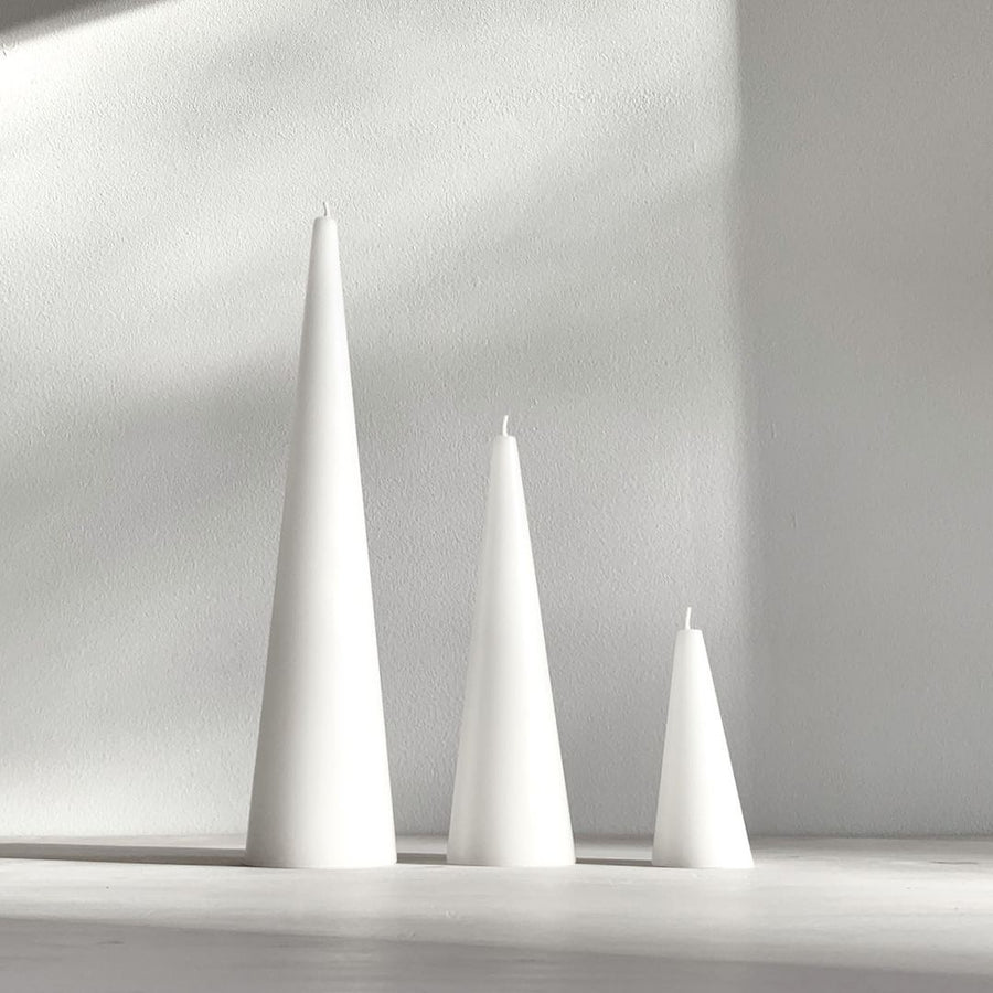 Cone Candles - Pure White