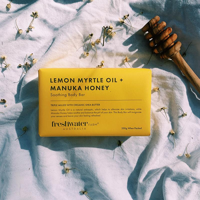 Soap Bar - Soothing Lemon Myrtle + Manuka Honey