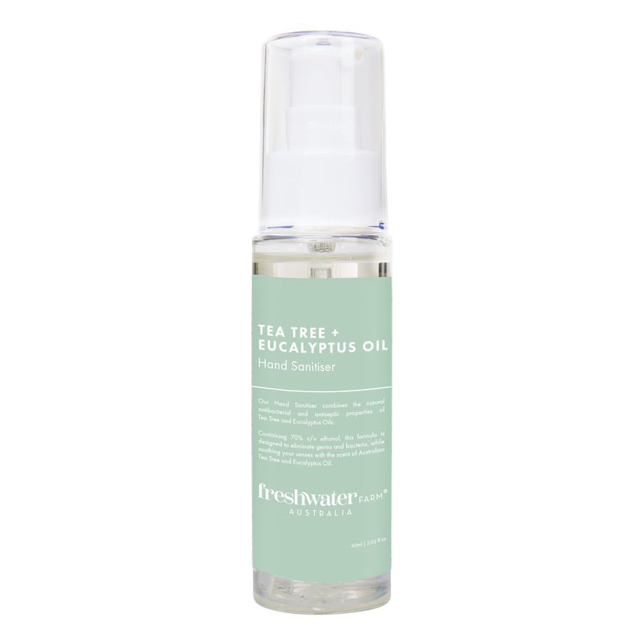 Tea Tree + Eucalyptus Oil Hand Sanitiser Gel 60ml