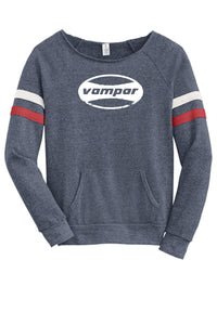 Distressed Oval Logo Women's Eco Fleece