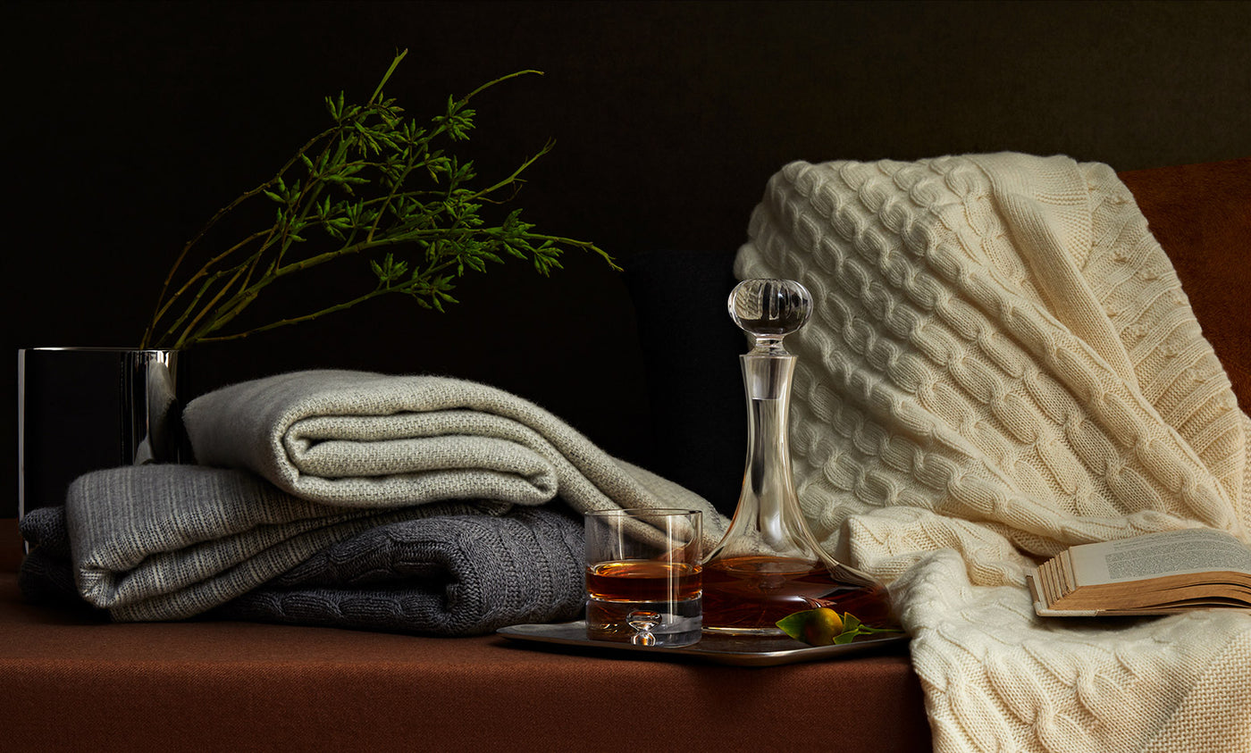 Luxury throws by Mascioni Hotel Collection