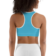 Load image into Gallery viewer, Light Blue Print Sports Bra