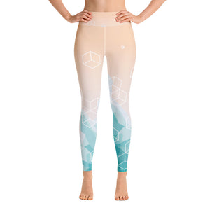 Light Watercolor High Waist Leggings