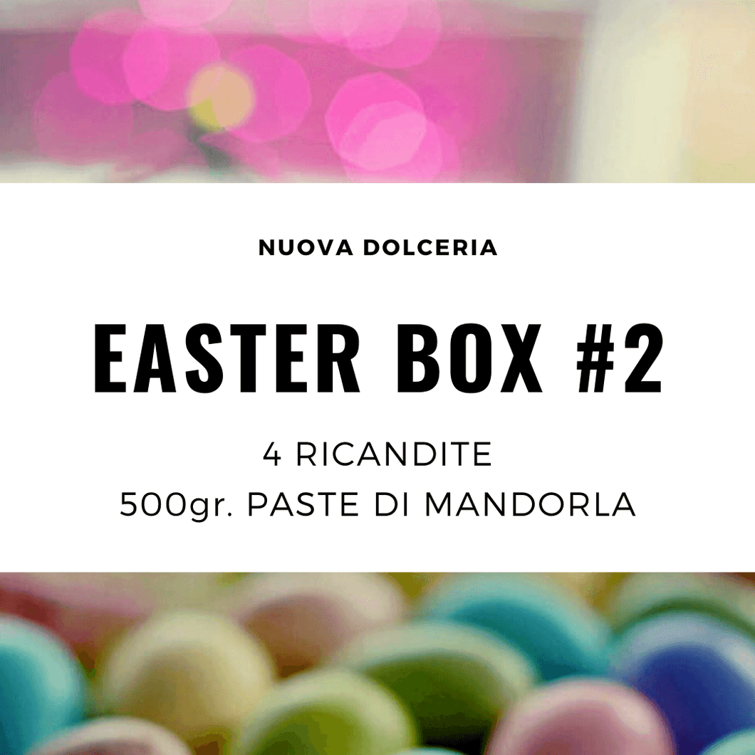 Easter Box REGULAR: Paste di Mandorla da 500g e 4 Ricandite