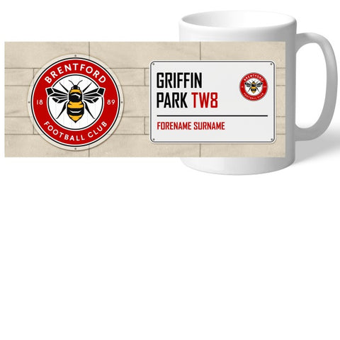 Brentford FC Street Sign Mug