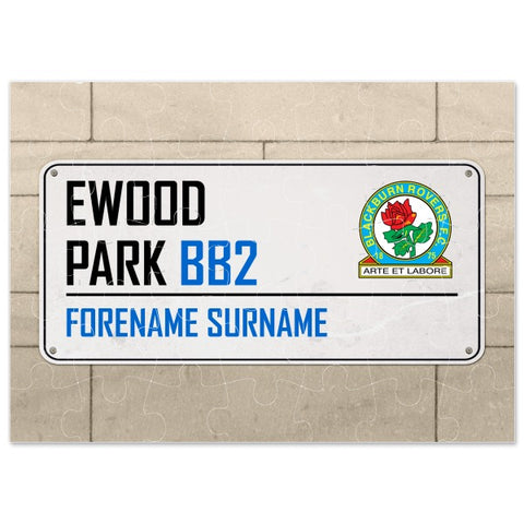 Blackburn Rovers FC Street Sign Jigsaw