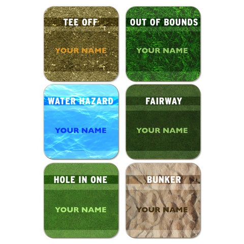 Personalised Golf Coasters