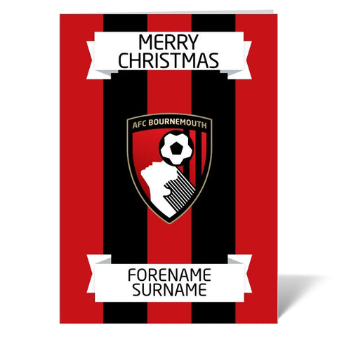 AFC Bournemouth Crest Christmas Card