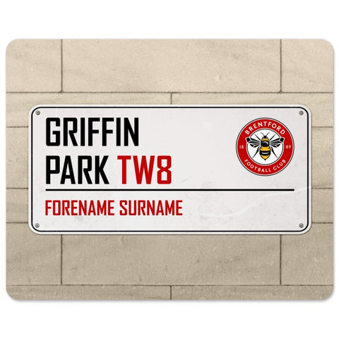 Brentford FC Street Sign Mouse Mat