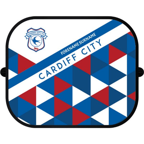 Cardiff City FC Patterned Car Sunshade