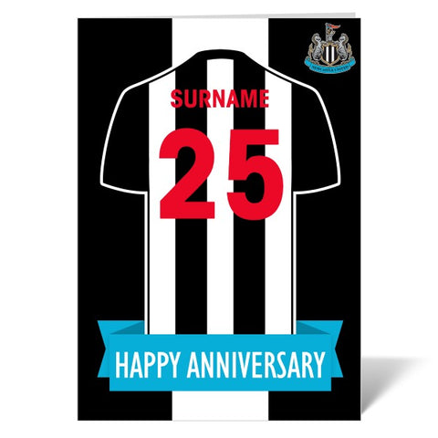Newcastle United FC Shirt Anniversary Card