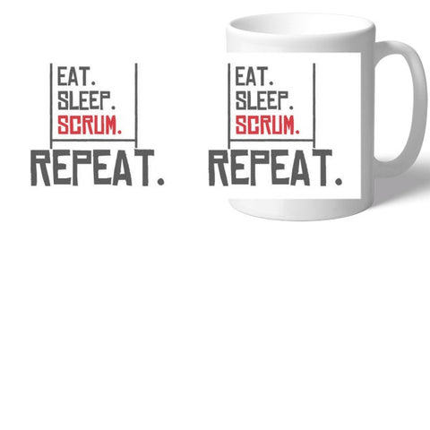 Rugby Eat Sleep Scrum Mug