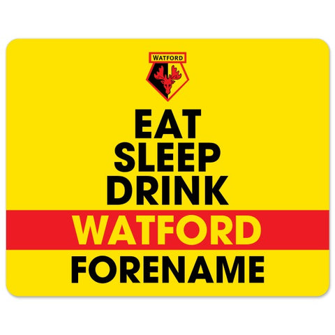 Watford FC Eat Sleep Drink Mouse Mat