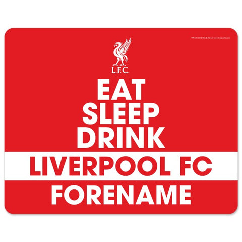 Liverpool FC Eat Sleep Drink Mouse Mat