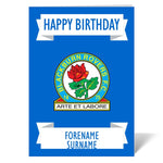 Blackburn Rovers FC Crest Birthday Card