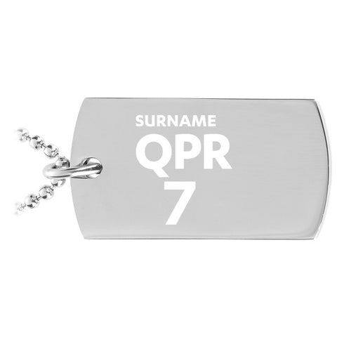 Queens Park Rangers FC Number Dog Tag Pendant