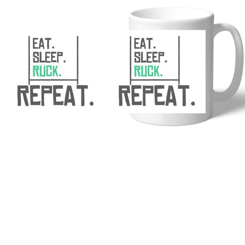 Rugby Eat Sleep Ruck Mug