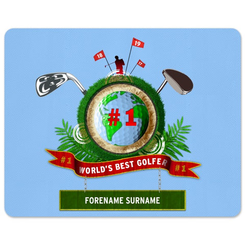 Personalised Best Golfer Mouse Mat