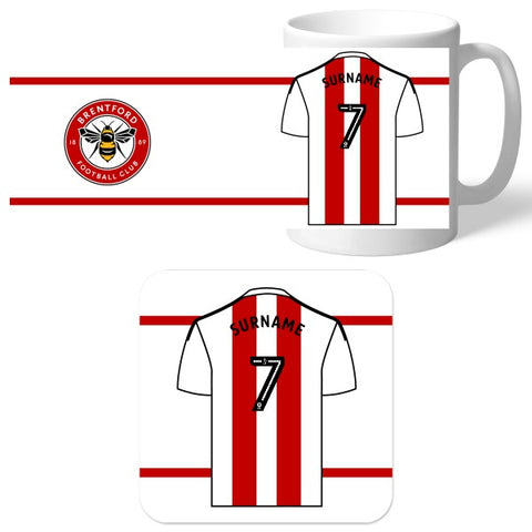 Brentford FC Shirt Mug & Coaster Set